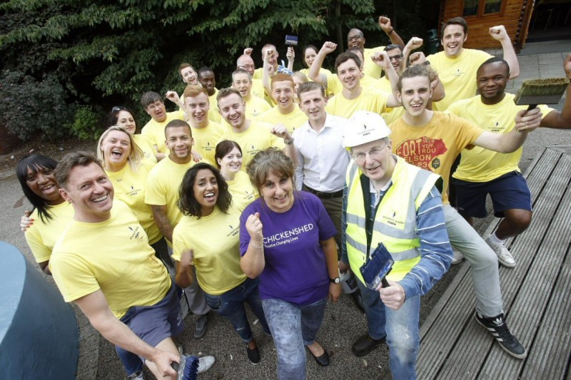 A Willmott Dixon team working in the community